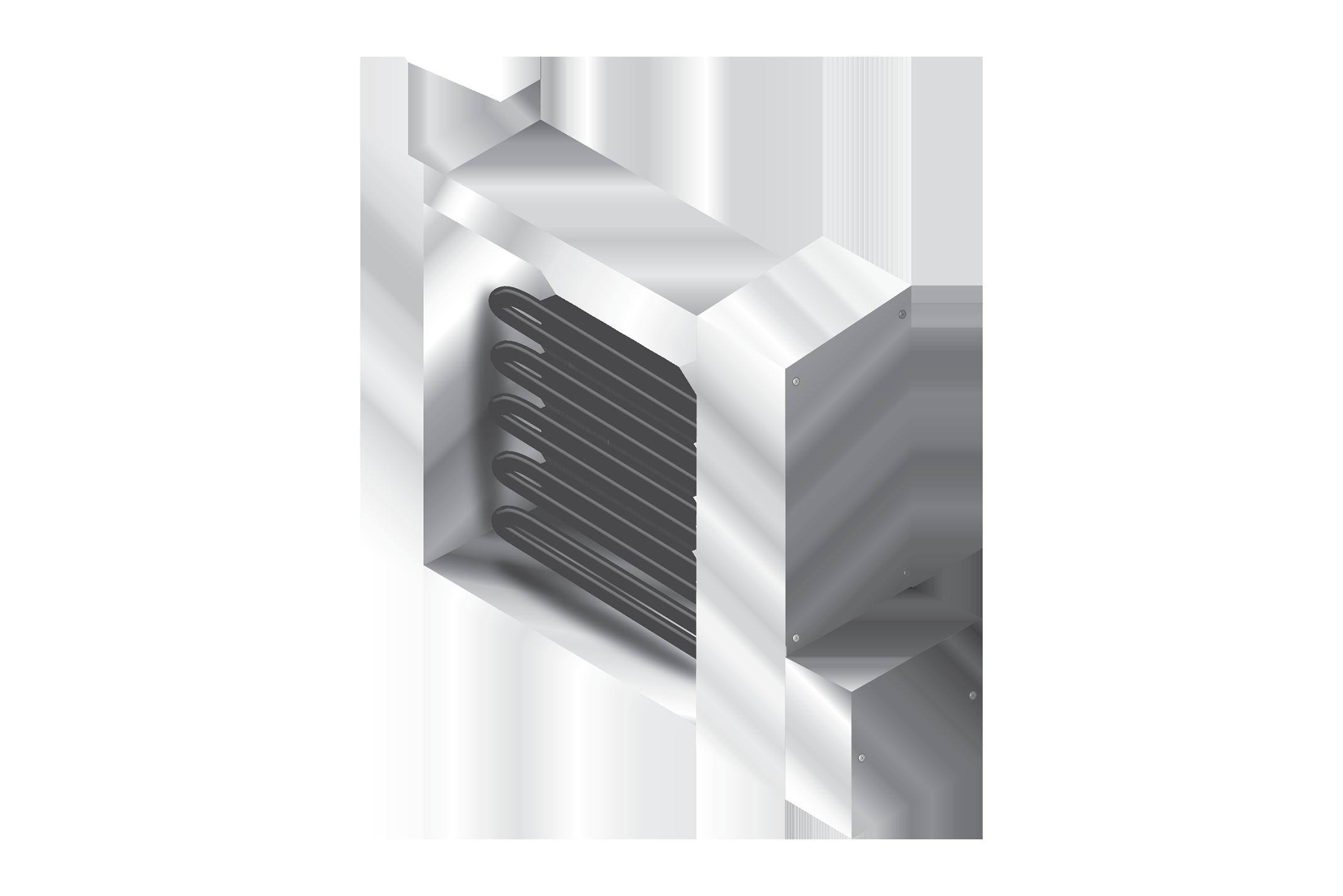 Коммерческий фланцевый обогреватель воздуховодов —  RDFT